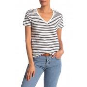 Madewell Theresa Striped V-Neck T-Shirt BRIGHT IVORY