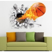 Sticker perete Bascket Ball 3D 50 x 70 cm