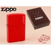 Zippo - öngyújtó matt piros -Nyugdíjbavonulási ajándék