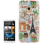 HTC One mini M4 - hoes, cover, case - TPU - Parijs - Wit
