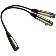 SEISMIC AUDIO SA-Y4 4 Pack 1-Feet Splitter Patch Cables 1 XLR Male to 2 XLR Female
