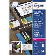 Avery Visitekaart Avery C32026 25 2 Zijdig 270gr 250stuks