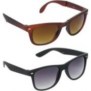 Hrinkar Wayfarer Sunglasses(Brown, Grey)