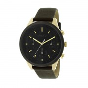 Simplify The 3800 Leather-Band Watch w/ Day/Date - Gold/Black SIM3803
