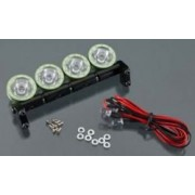 Integy Hobby RC Model C23348GREEN Alloy Roof Top Spot Light Set (4) LED White w/ Metal Housing for 1/10