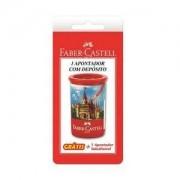 Faber Castell Apontador Substituível Com Deposito - Vermelho & Azul Cla