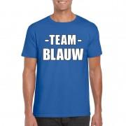 Bellatio Decorations Team blauw shirt heren voor sportdag