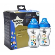 Tommee Tippee - Set Biberoane Decorate 2X340ml, 3 luni+, Bleu