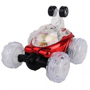 Remote Controlled Vehicles Pikolai Red Rechargeable Stylish Musical Remote Control Car With LED Lights Can Be Rotated 360