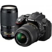 Digitalni fotoaparat Nikon D5300 kit, AF-P 18-55 VR + AF-P 70-300VR, crni