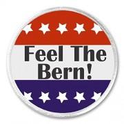 "A&T Designs Feel The Bern! Red White Blue Stars 3"" Sew On Patch Bernie Sanders"