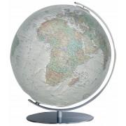 Columbus 234081 Alba Leuchtglobus Edelstahl 40 cm Globus Doppelbild physisch/...