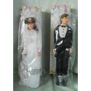 """(2) Pair Of Vintage Avon """" Carly """" Bride Doll And """" Drew """" Groom Doll 11 1/2"""""""