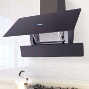vidaXL Köksfläkt med pekskärm svart 900 mm