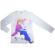 T-shirt maglia maglietta cotone bimba bambina Disney Frozen bianco 10A