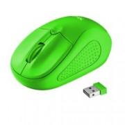 Мишка TRUST Primo 21922, оптична(1600 dpi), безжична, USB, зелена, до 8м обхват