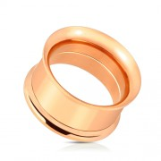 14 mm screw fit tunnel rose gold plated