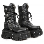 stivali in pelle uomo - NEW ROCK - M.TANK002-C10