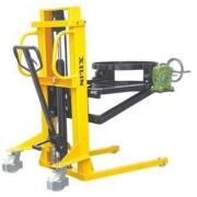 BYTD-35 350 kg 1,9 méter emelésű hordóborító adapterrel hidraulikus kézi hordóemelő. Gyári, közvetlen importból, 1 év garanciával!