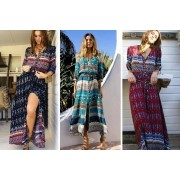 Hangzhou Yuxi Trade Co. Ltd (t/a PinkPree) £12 instead of £29.99 (from Pinkpree) for a floral boho maxi dress - save 60%
