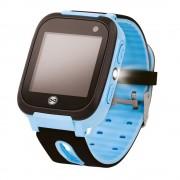 Ceas smartwatch copii KW50, Localizare LBS, SIM, SOS, Lanterna, Blue