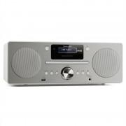 Auna Harvard, микро система, DAB / DAB +, FM тунер, CD плейър, USB зареждане, бяла (MG3-Harvard WH)