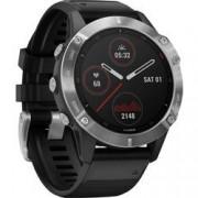 Garmin Chytré hodinky Garmin fenix 6 Silver w/Black Band (no MAP/Music/Pay)