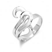 Silvego Stříbrný prsten originálního tvaru - JZR355