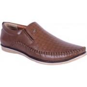 Shoebook Mens Brown Loafers For Men(Brown)