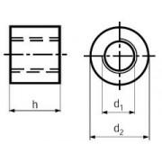 matice 40x7x80x60 trapézová kulatá DIN 88089