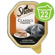 22х80г Sheba - консервирана храна за котки - Sauce Speciale пуйка и зеленчуци в светъл сос