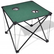 vidaXL Foldable Camping Table Dark Green