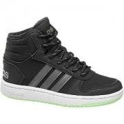 Adidas Zwarte Hoops mid 2.0 warmgevoerd