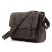 Delton Bags Braune Aktentasche aus glattem Leder