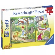 Puzzle Personaje, 3X49 Piese
