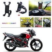 AutoStark Motorcycle Mount Cell Phone Holder/Installed to Motorcycle Rearview mirror Phone Mount For Yamaha Gladiator