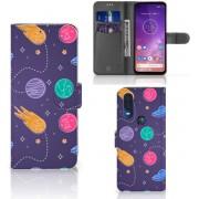 Motorola One Vision Wallet Case met Pasjes Space