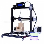 flsun 3D auto nivelacion i3 3D impresora kit con cama caliente dos rollos de filamento SD (enchufe del Reino Unido)