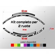Kit completo adesivi cerchi bici da corsa fulcrum racing zero colore personalizzato stickers