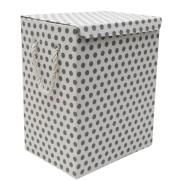Cos textil rufe baie pliabil dreptunghiular TATUMBLA, 0188137, 40x30xH50cm cu buline