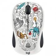 Мишка Logitech Doodle Collection - M238 Wireless Mouse - TECHIE WHITE, 910-005053