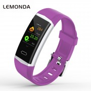 LEMONDA B5 0.96-inch OLED Color Screen GPS Fitness&Heart Rate Tracker Smart Wristband - Purple