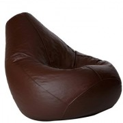 Ink Craft Brown Hi-Back Gamer Bean Bag Chair Cover Only - XXL
