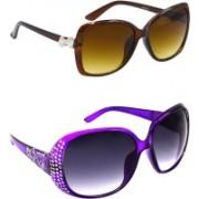 Hrinkar Over-sized Sunglasses(Clear, Grey)
