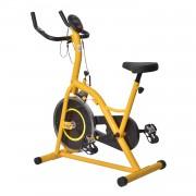 Bicicleta Estática para Spinning e Fitness com Ecrã LED - Cor: Amarelo e Preto - Aço e Alumínio - 105 x 50 x 115 cm