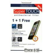 Folie Protectie SuperTOUCH Antibacterial iPhone 4 4S - 2buc