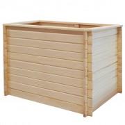 vidaXL Vyvýšený záhradný záhon 100x100x80 cm, borovicové drevo 19 mm