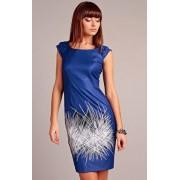 Denise sukienka (niebieski-wzór)
