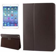 Apple Litchi structuur Flip lederen hoesje met houder voor iPad Air (bruin)