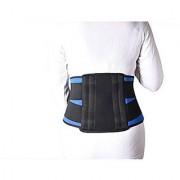 Kudize Lumbar Sacral (L.S.) Belt Contoured Spinal Brace Mild Lower Back Support BlueBlack - XL (100 to 110 cm)